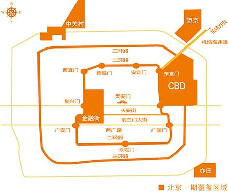 北京无线城市一期网络覆盖区域图